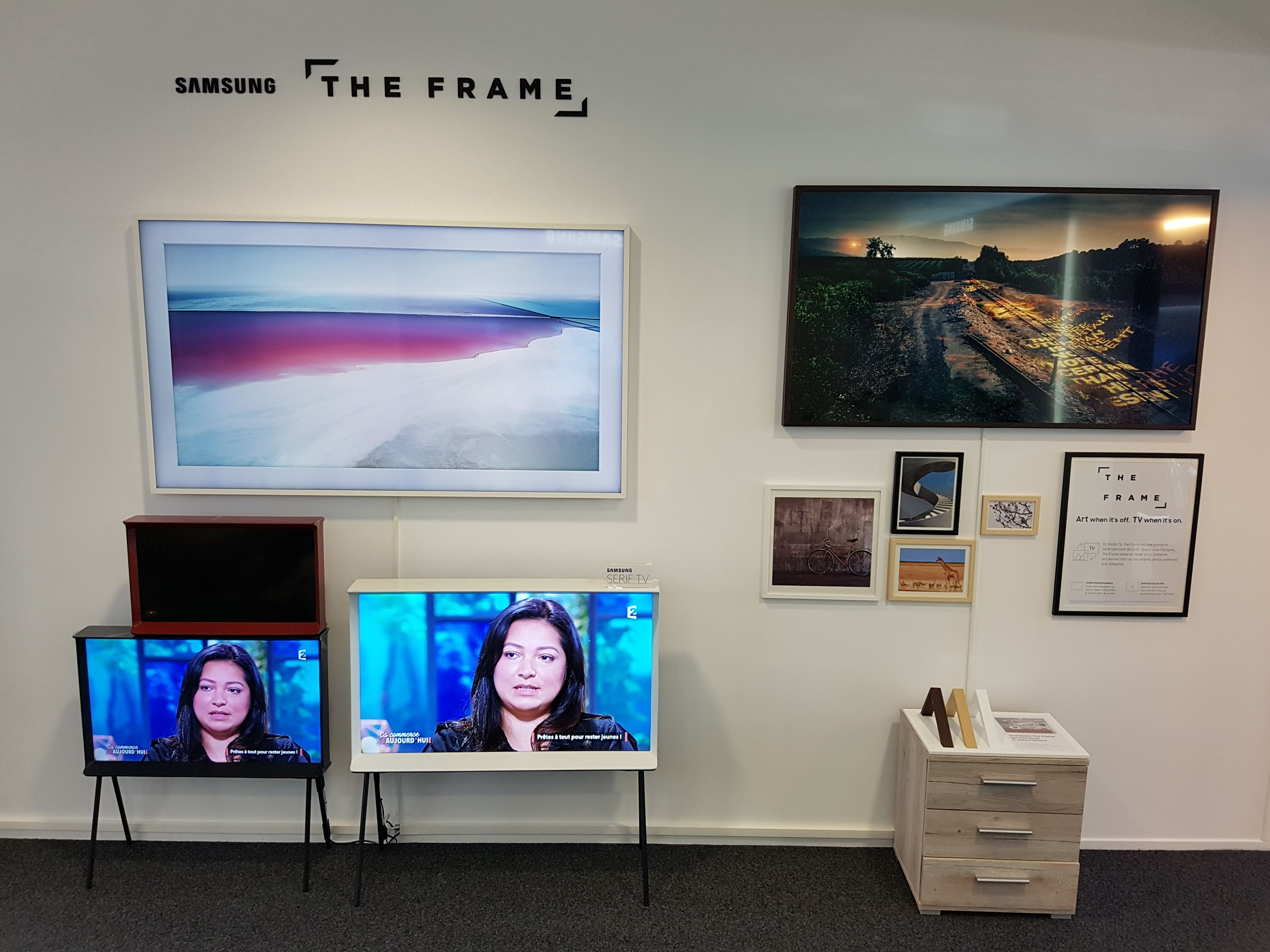 Showroom The Frame Samsung 2017 Mode Tableaux