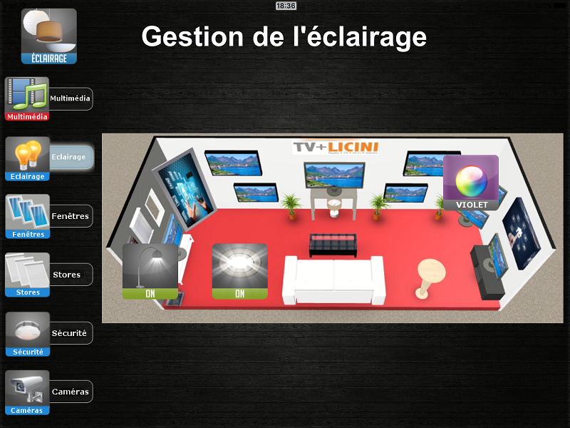gestion lumieres
